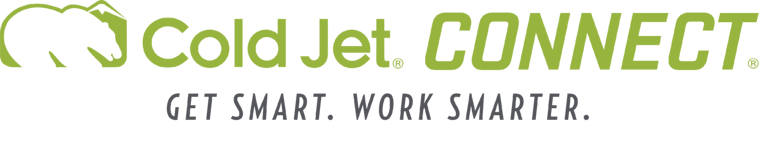 Cold Jet CONNECT logo with tagline