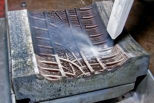 Dry ice blasting Tire Mold